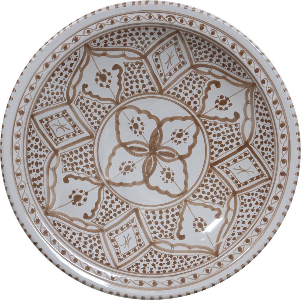 schale souk a braun grau keramik l hk living. Black Bedroom Furniture Sets. Home Design Ideas